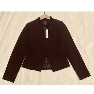 Worthington Black Open Front Blazer Women Sz 4 NWT